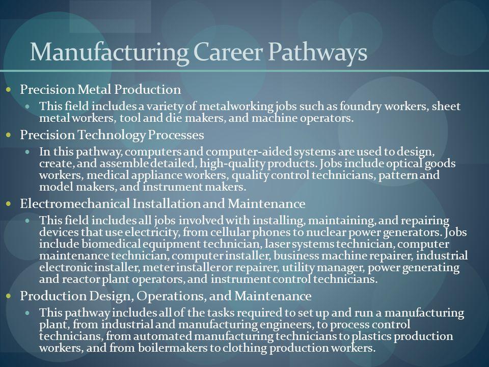 Manufacturing Career Pathways