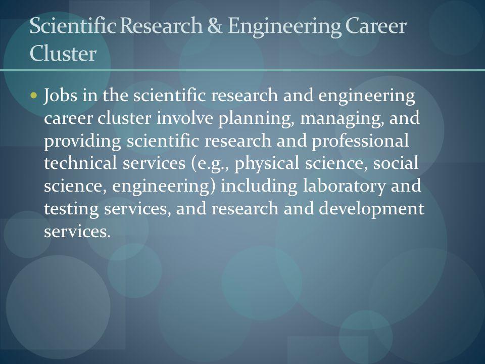 Scientific Research & Engineering Career Cluster
