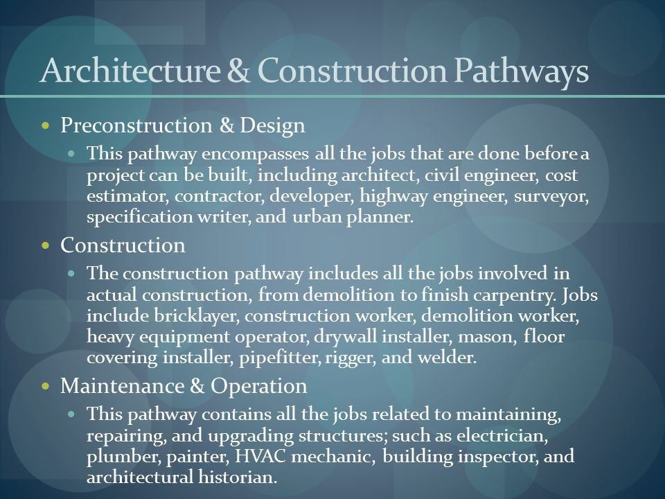 Architecture & Construction Pathways