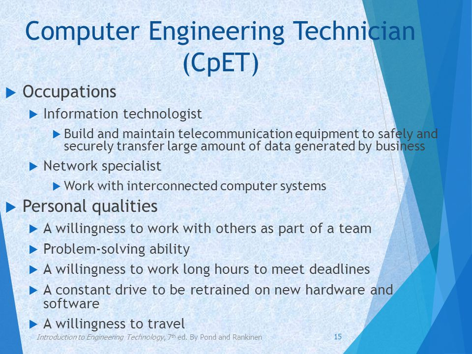 Computer Engineering Technician (CpET)