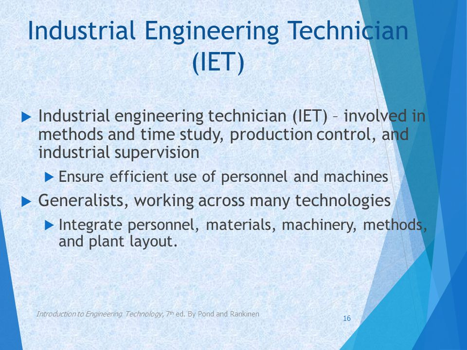 Industrial Engineering Technician (IET)