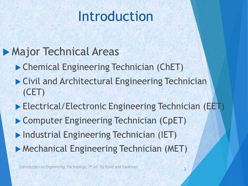 Introduction Major Technical Areas