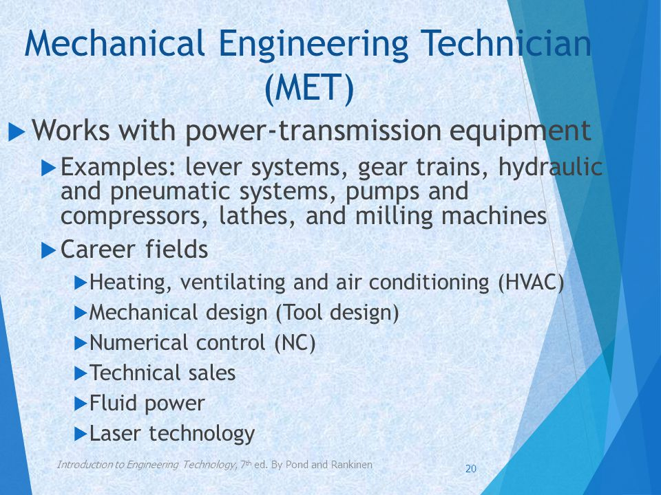 Mechanical Engineering Technician (MET)
