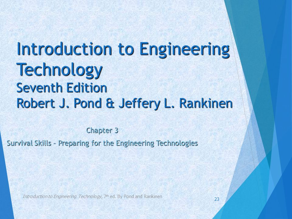Chapter 3 Survival Skills – Preparing for the Engineering Technologies