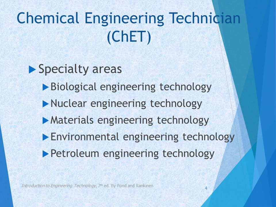 Chemical Engineering Technician (ChET)