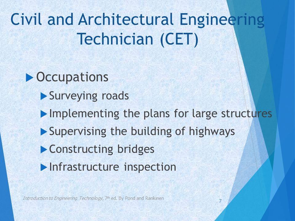 Civil and Architectural Engineering Technician (CET)