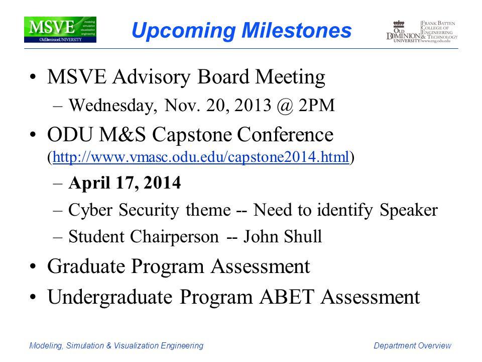 MSVE Advisory Board Meeting