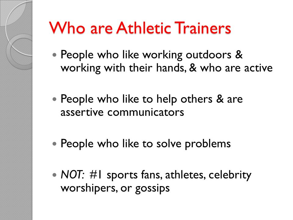 Who are Athletic Trainers