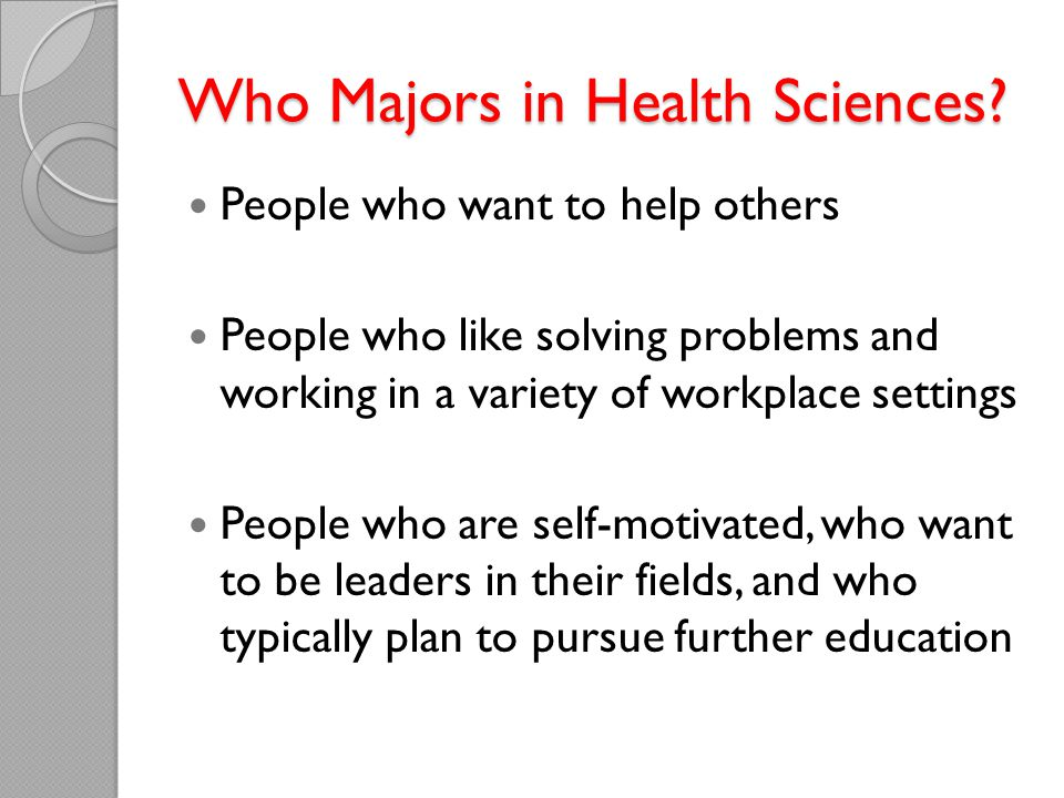 Who Majors in Health Sciences