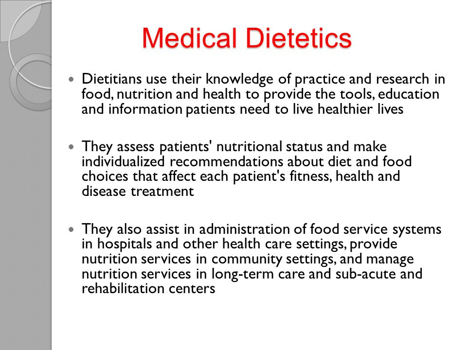 Medical Dietetics