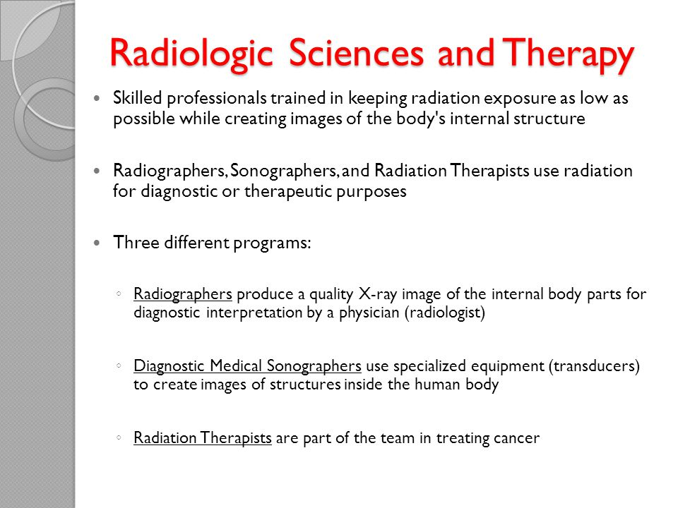 Radiologic Sciences and Therapy