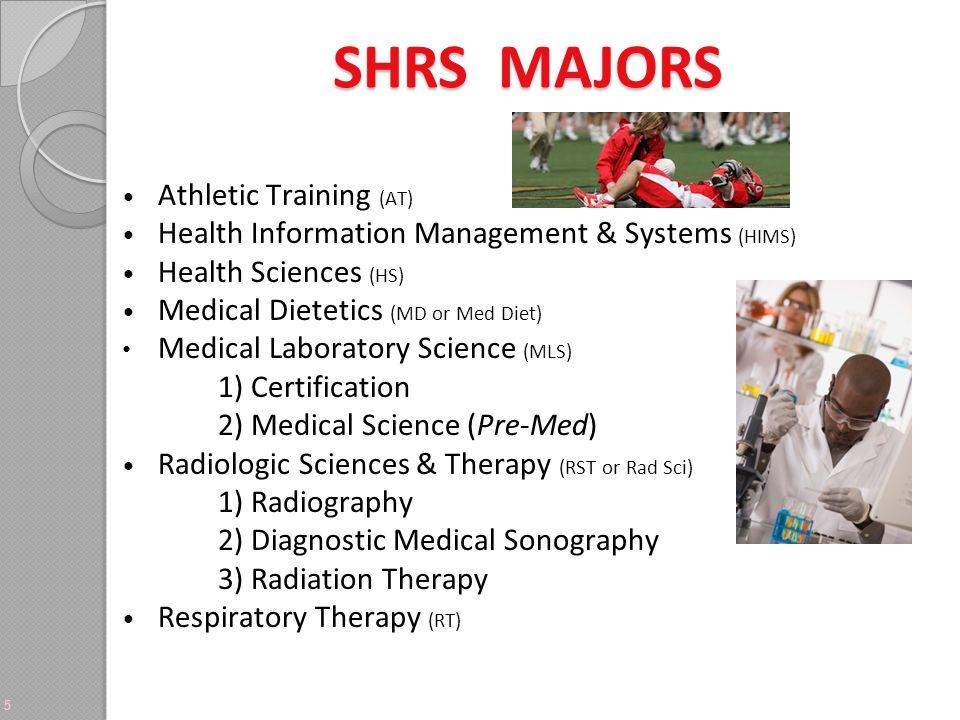 SHRS MAJORS Athletic Training (AT)