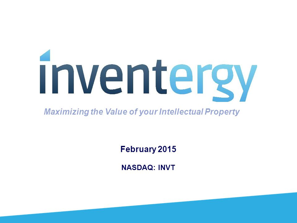 Maximizing the Value of your Intellectual Property