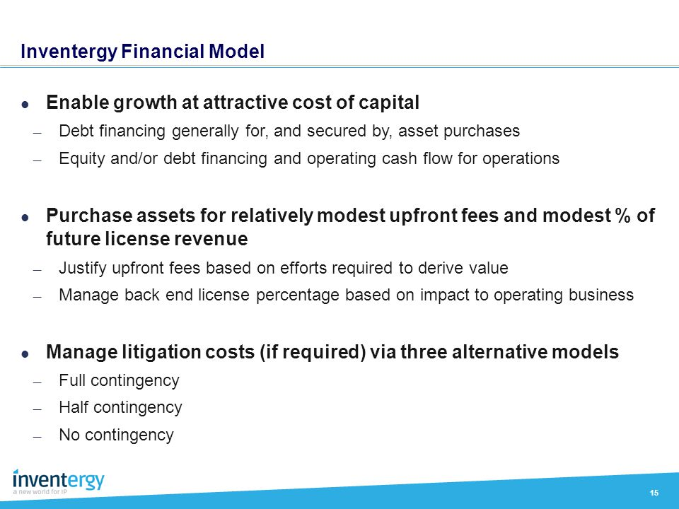 Inventergy Financial Model