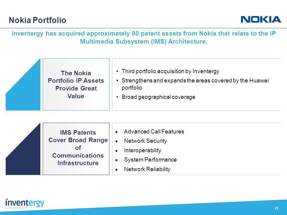 The Nokia Portfolio IP Assets Provide Great Value