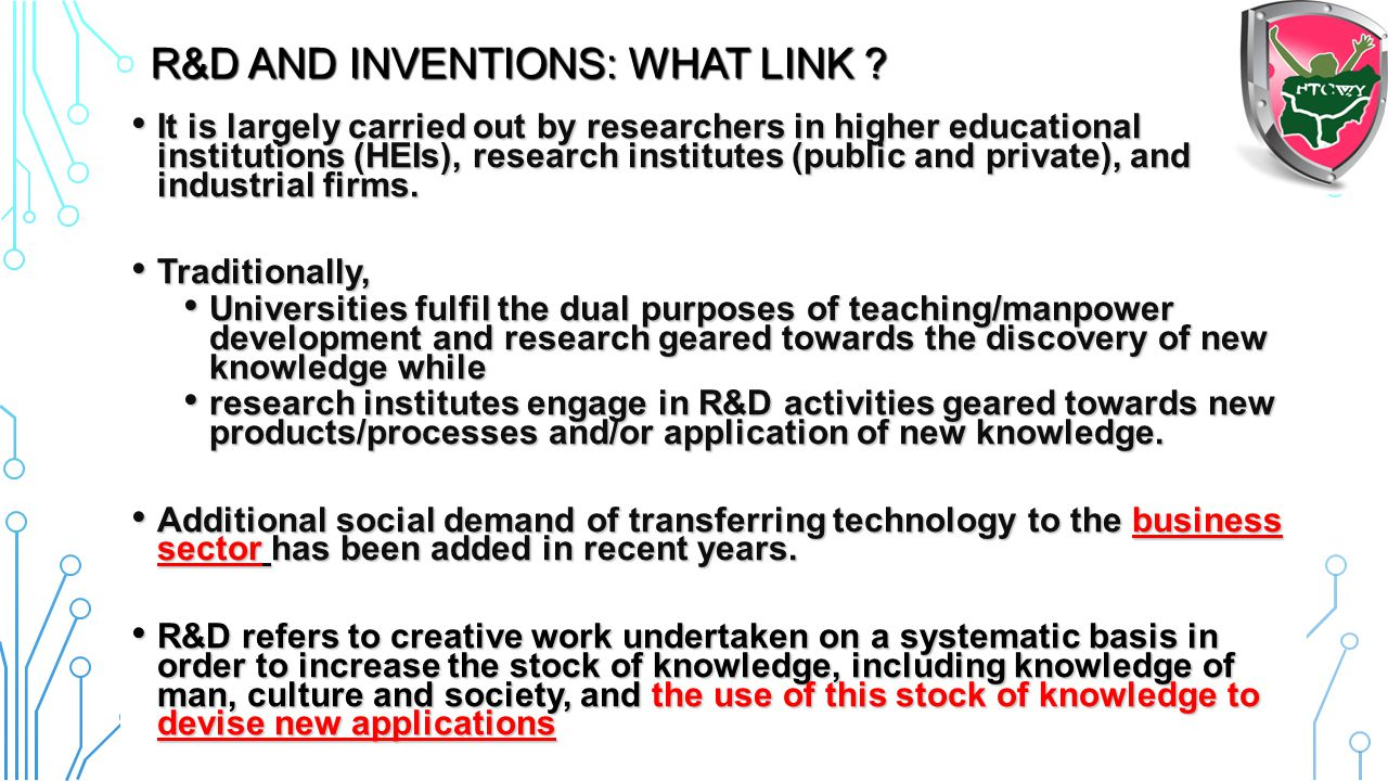 R&D and inventions: What Link