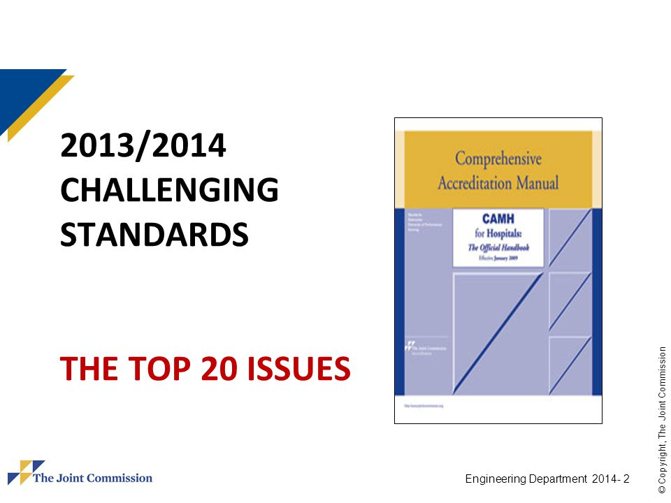2013/2014 Challenging standards The top 20 Issues