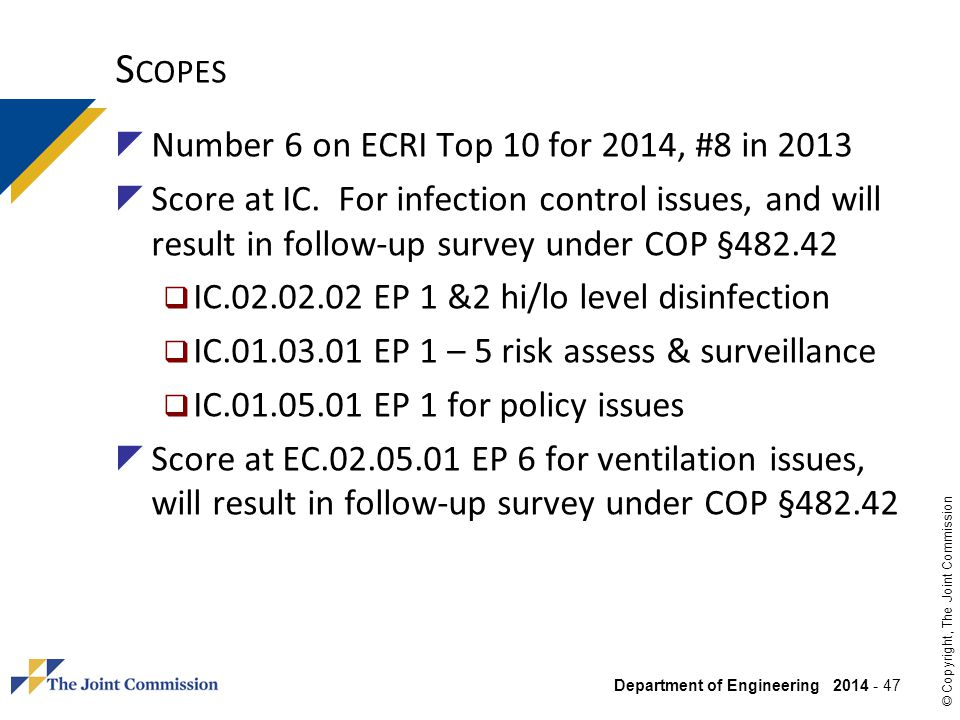 Scopes Number 6 on ECRI Top 10 for 2014, #8 in 2013