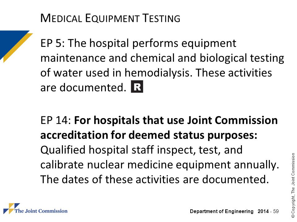 Medical Equipment Testing