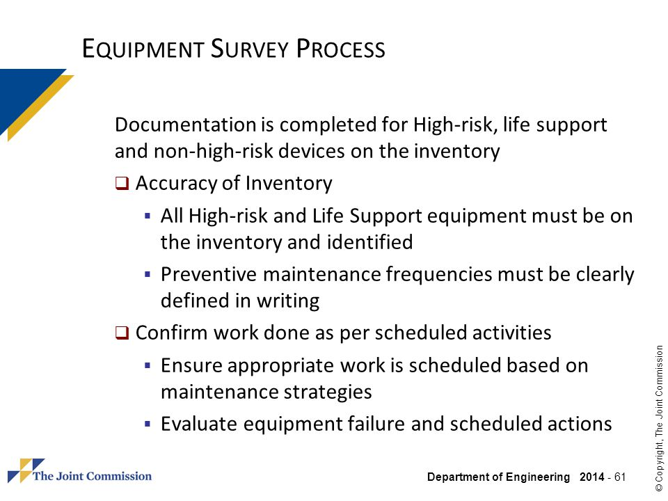 Equipment Survey Process