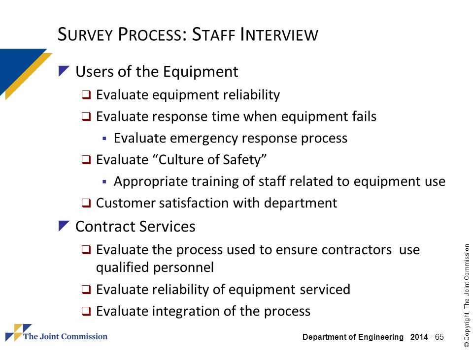 Survey Process: Staff Interview