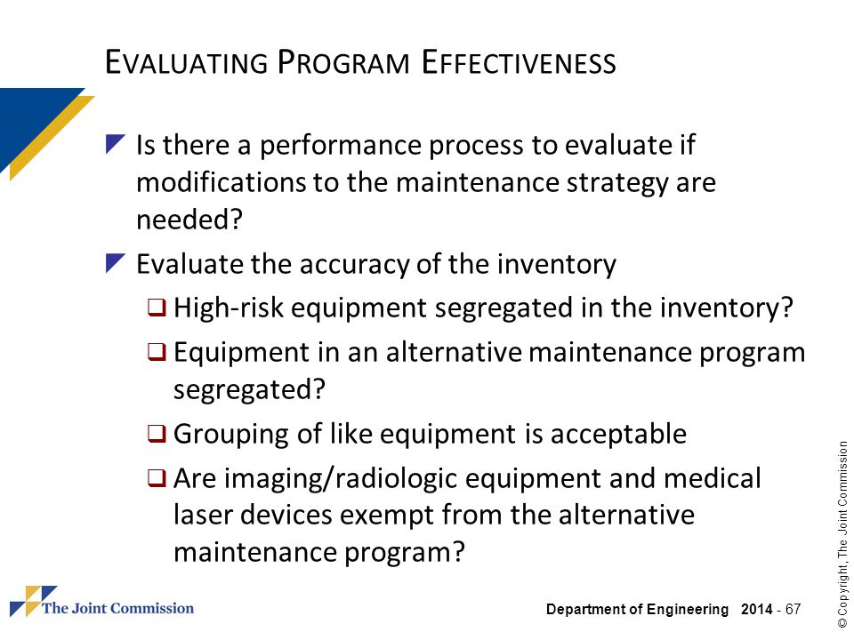 Evaluating Program Effectiveness