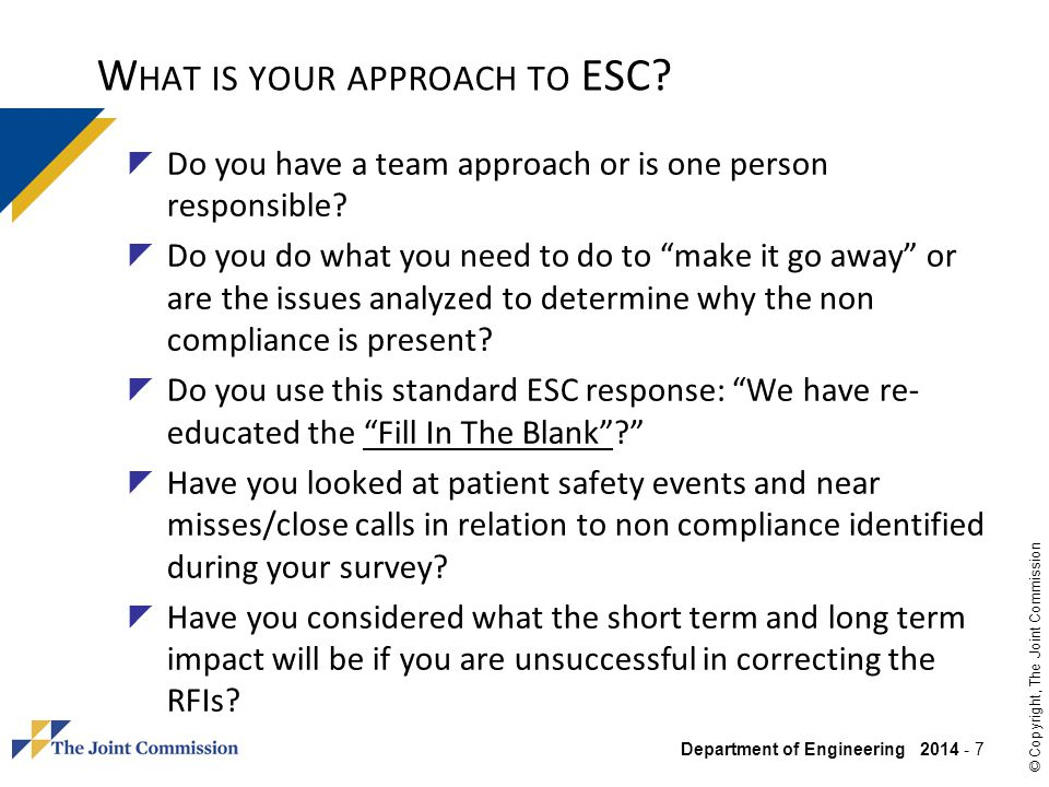 What is your approach to ESC