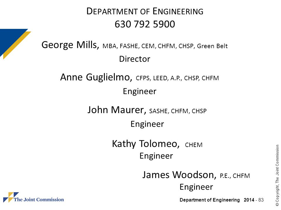 Department of Engineering 630 792 5900