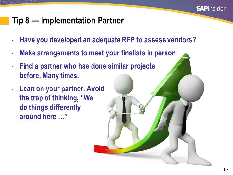 Tip 9 — Project Management