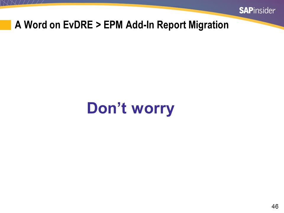 EvDRE Support in the EPM Add-In