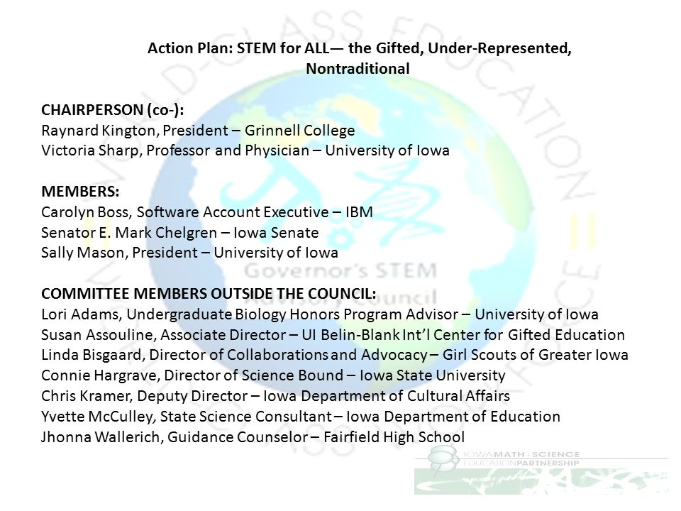 Action Plan: STEM for ALL— the Gifted, Under-Represented,