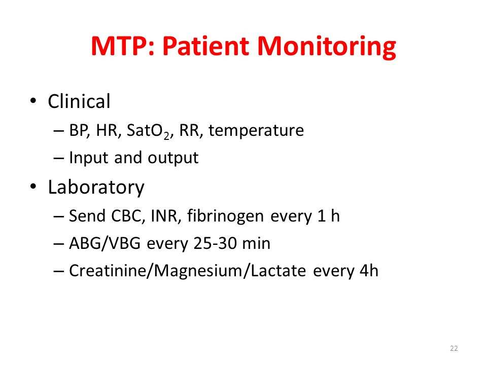 MTP: Patient Monitoring