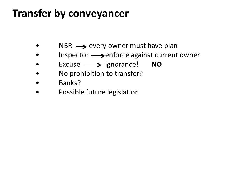 Transfer by conveyancer