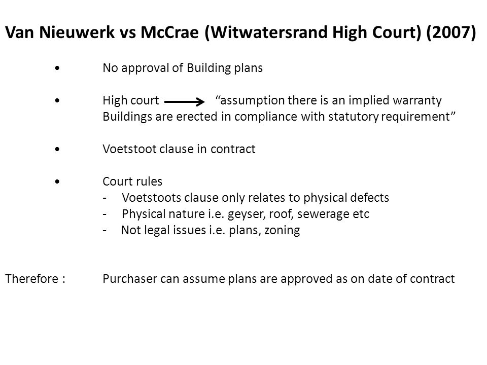 Van Nieuwerk vs McCrae (Witwatersrand High Court) (2007)