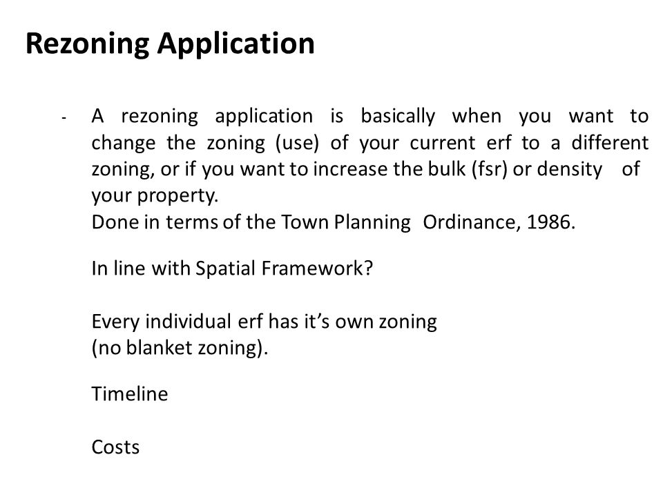 Rezoning Application