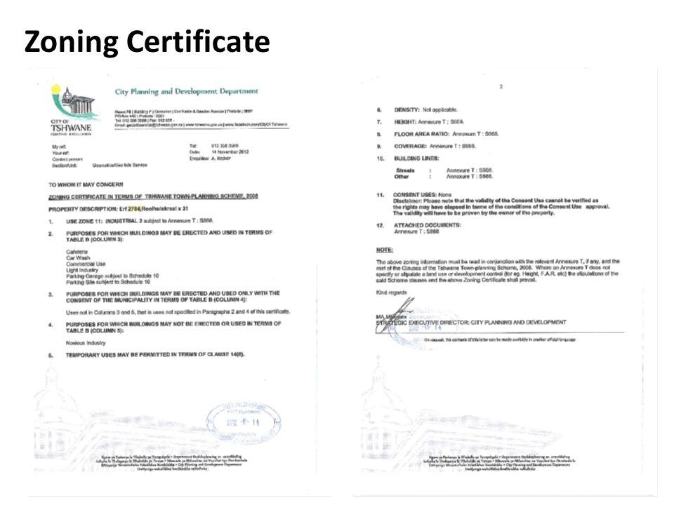 Zoning Certificate