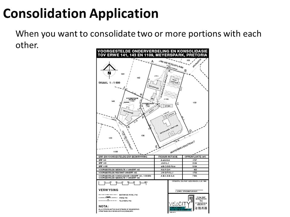 Consolidation Application