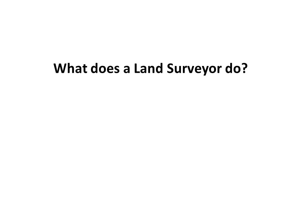 What does a Land Surveyor do
