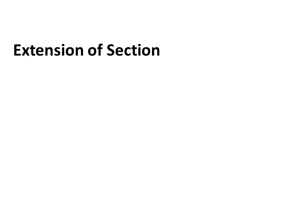 Extension of Section