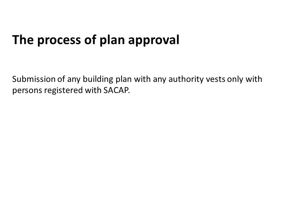 The process of plan approval