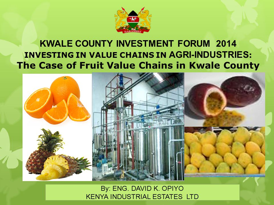 KWALE COUNTY INVESTMENT FORUM 2014
