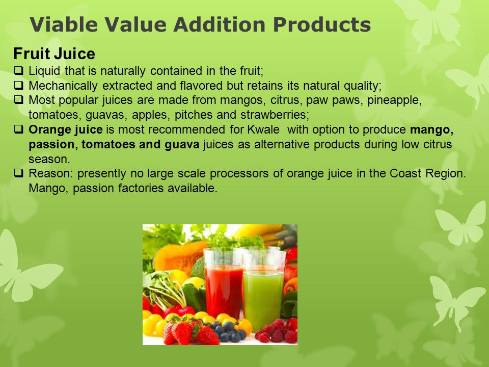 Viable Value Addition Products