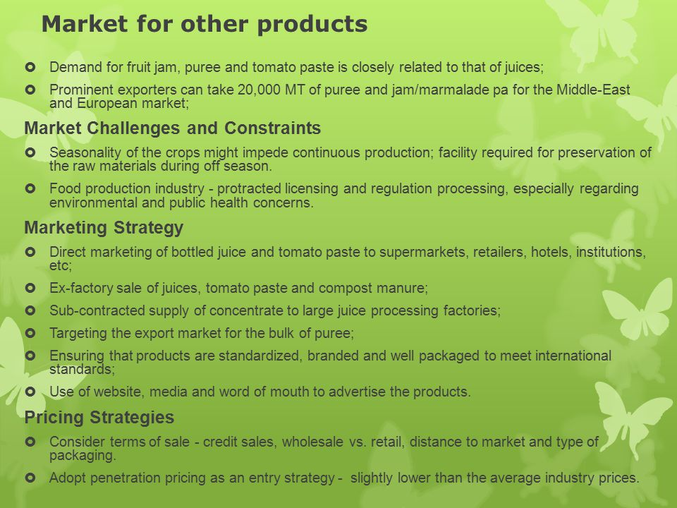 Market for other products