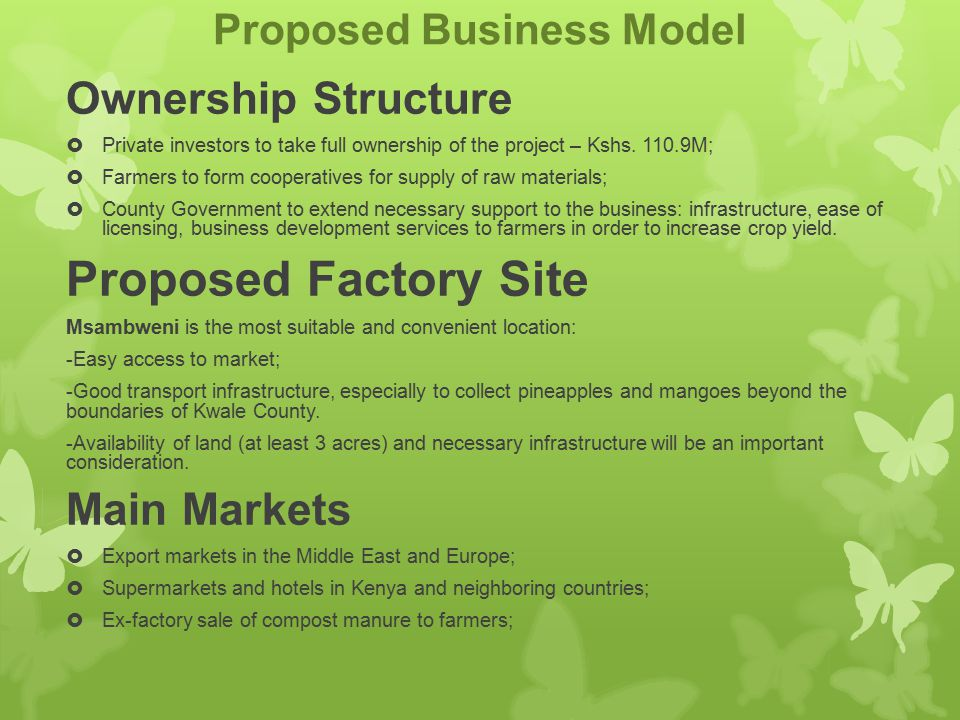 Proposed Business Model