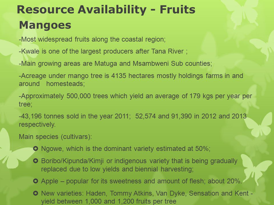 Resource Availability - Fruits