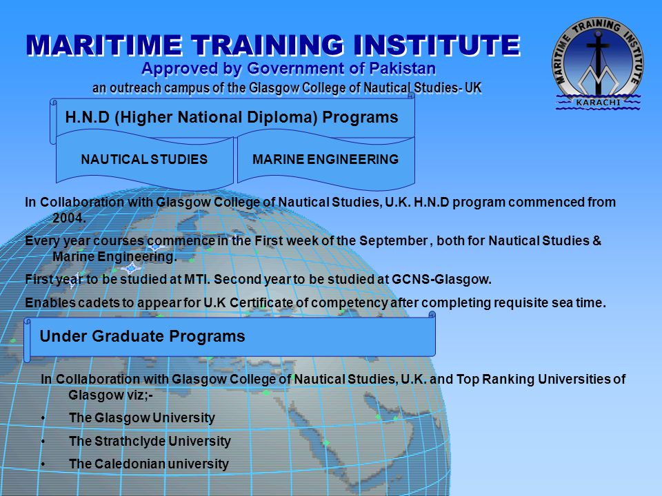 H.N.D (Higher National Diploma) Programs