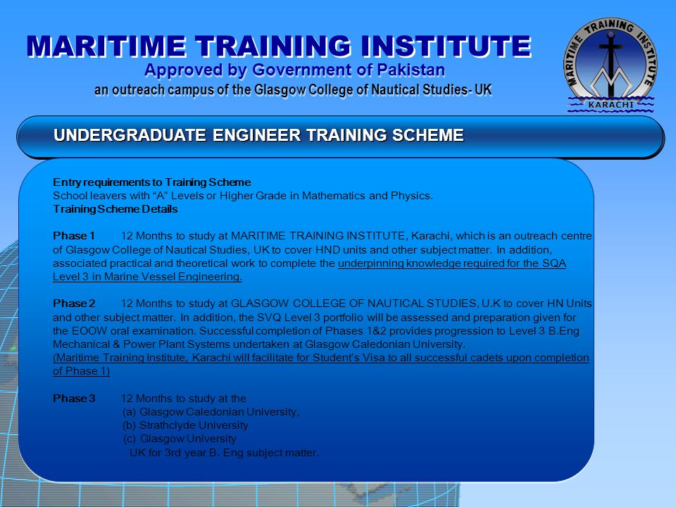 UNDERGRADUATE ENGINEER TRAINING SCHEME