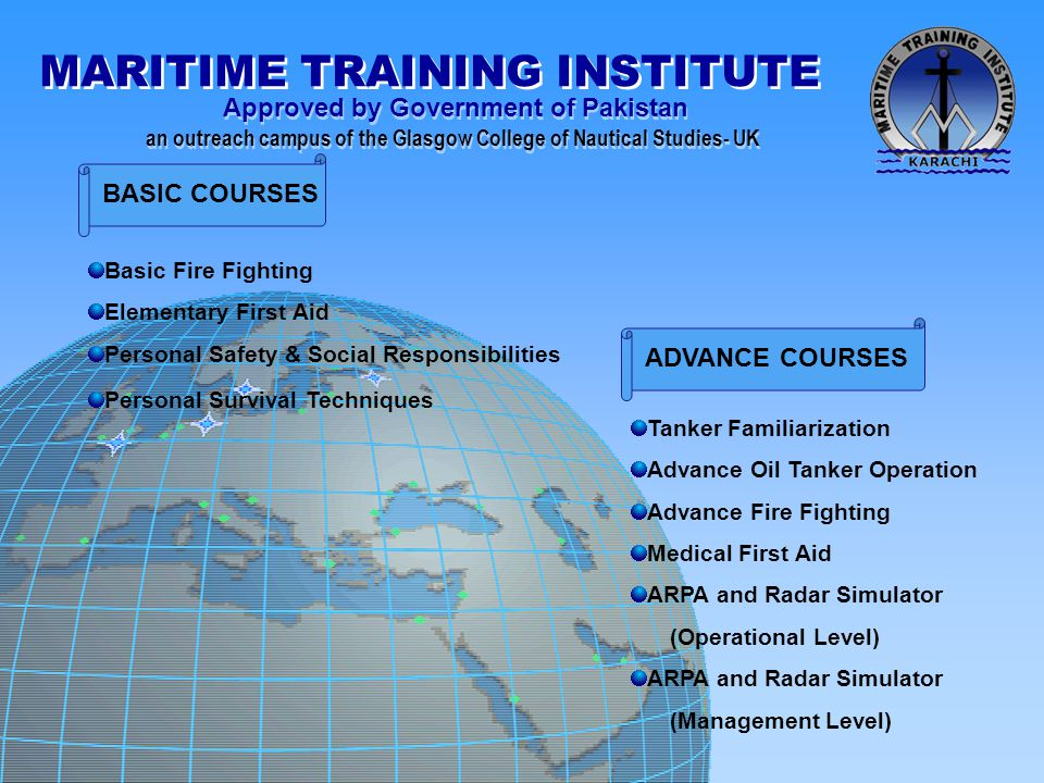 BASIC COURSES ADVANCE COURSES Basic Fire Fighting Elementary First Aid