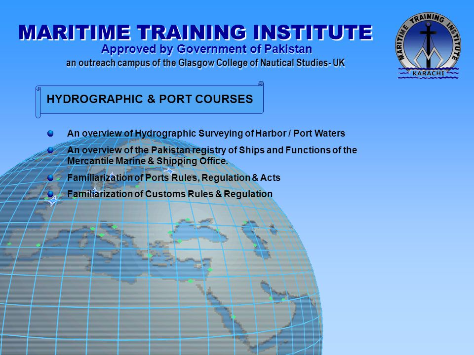 HYDROGRAPHIC & PORT COURSES