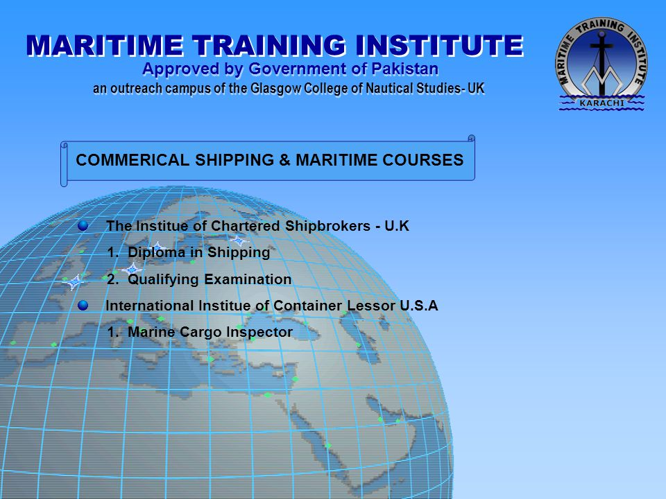 COMMERICAL SHIPPING & MARITIME COURSES